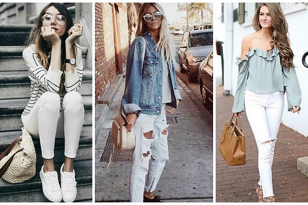 1317a7ed3dd Одной из самых модных вещей весны 2019 года можно назвать джинсы белого  цвета